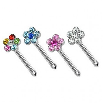 Flower Gem Nose Stud